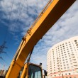 Excavator lifting arm — Stock Photo