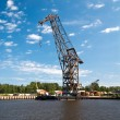 Stock Photo: Dock crane