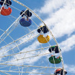 Stock Photo: Ferris cloudy wheel