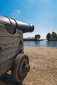 Russian memorial cannon — Stock Photo
