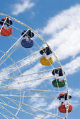 Ferris cloudy wheel — Stock Photo