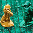 Soviet plastic toy soldiers — Stock Photo