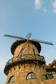Windmill at blue sky — Stock Photo