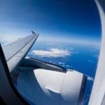 Airplane travel — Stock Photo