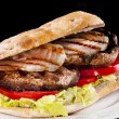 Stock Photo: Portobello sandwich