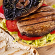 portobello sandwich — Stock Photo