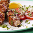 Grilled kebab - Stock Photo