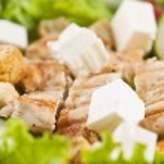 Grilled chicken salad — Stock Photo