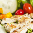 Stock Photo: Grilled chicken salad