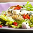Grilled chicken salad — Stock Photo