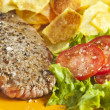 Steak and chips — Stock Photo #2338757