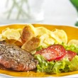Steak and chips — Stock Photo #2338772
