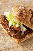 Meat sandwich — Stock Photo