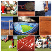Sports collage — Stock Photo