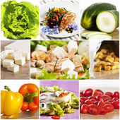 Chicken salad collage — Stock Photo