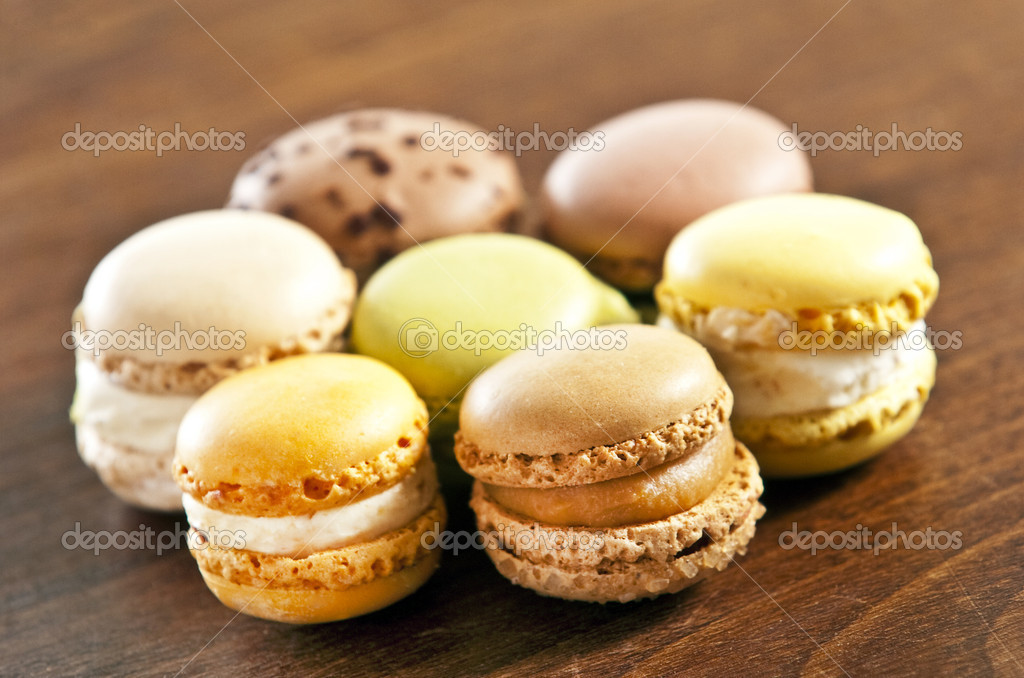 An assortment of french macaron sweets  Stock Photo #2338638