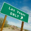 Green Las Vegas Road Sign - Foto de Stock
