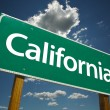 Green California Road Sign — Stock Photo