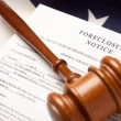 Gavel, American Flag, Foreclosure Notice — Stock Photo