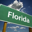 Florida Green Road Sign — Stock Photo