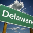 Stock Photo: Delaware Green Road Sign