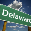 Delaware Green Road Sign - Stock Photo