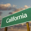 California Green Road Sign Over Sky — Stock Photo