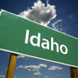 Stock Photo: Idaho Green Road Sign