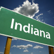 Indiana Green Road Sign — Stock Photo