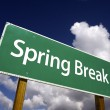 Royalty-Free Stock Photo: Spring Break Road Sign