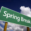 Spring Break Road Sign - Stock Photo