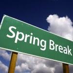 Spring Break Road Sign — Stock Photo