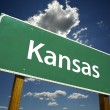 Kansas Road Sign - Stock Photo