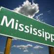 Mississippi Green Road Sign - Stock Photo