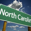 图库照片: North CarolinGreen Road Sign