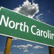 North Carolina Green Road Sign - Stock Photo