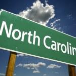 North Carolina Green Road Sign — Stock Photo