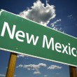 New Mexico Green Road Sign — Stock Photo