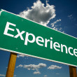 Experience Road Sign — Stockfoto