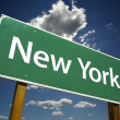 New York Road Sign - Stock Photo
