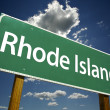 Rhode Island Road Sign — 图库照片