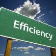 Stock Photo: Efficiency Green Road Sign on Clouds