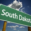 South Dakota Road Sign — Stock fotografie