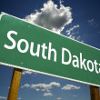 South Dakota Road Sign — Stok fotoğraf