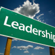 Leadership Road Sign - Stock Photo