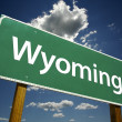 Wyoming Road Sign - Stock Photo