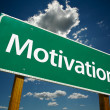 Motivation Road Sign Over Sky — Stock Photo #2329232