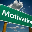Motivation Road Sign Over Sky - Stock Photo