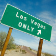 Stock Photo: Green Las Vegas Road Sign