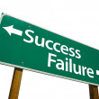 Success, Failure Road Sign with Clipping — Stock Photo